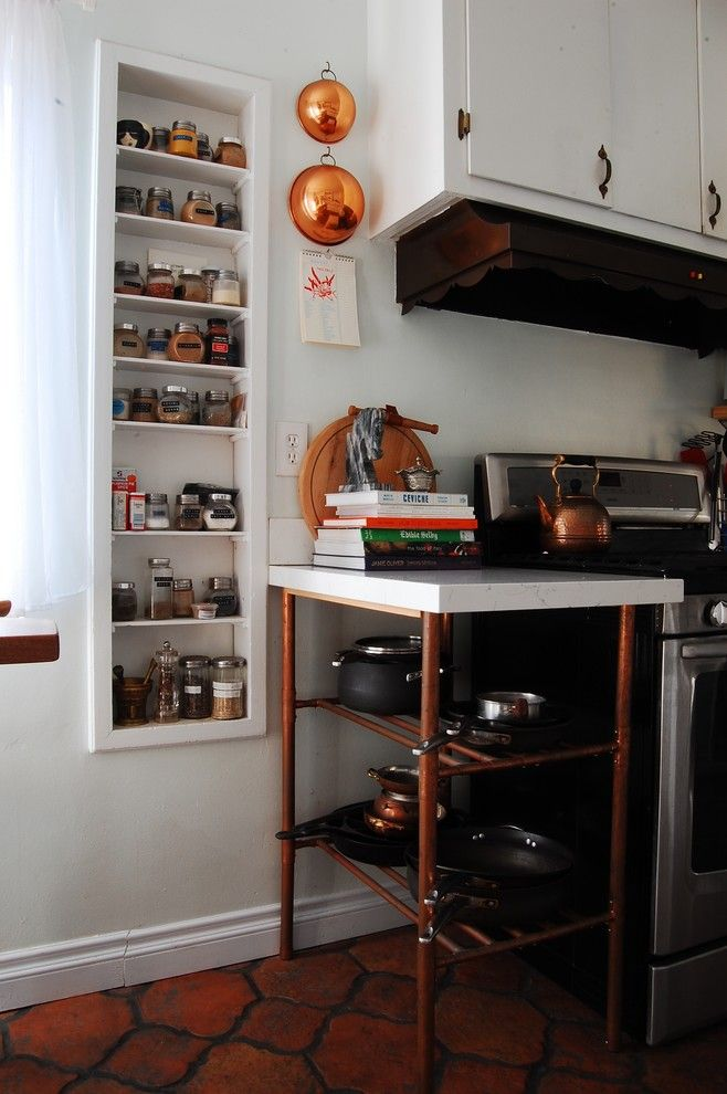 Copper Kettle Nashville for a Eclectic Kitchen with a Eclectic and My Houzz: Charming 1940s Home Update is All in the Family by Corynne Pless