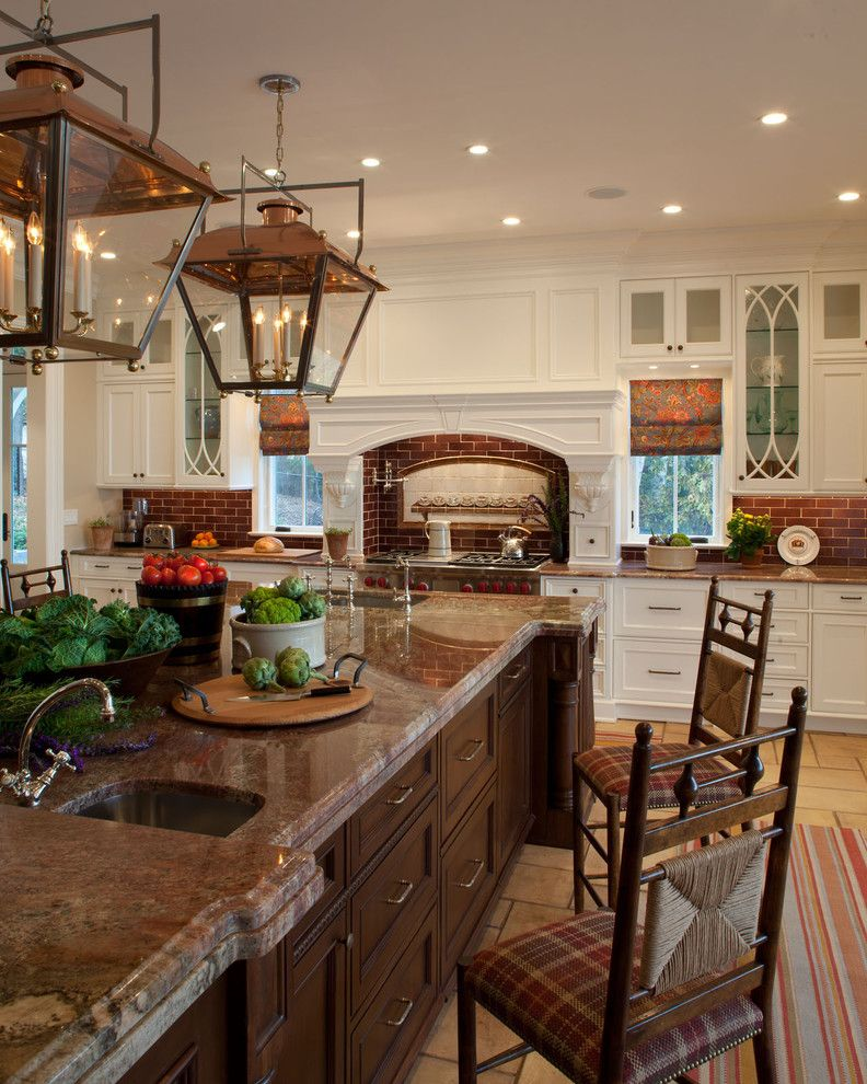 Copper Kettle Nashville for a Traditional Kitchen with a Two Sinks and Sag Harbor by Harrison Design