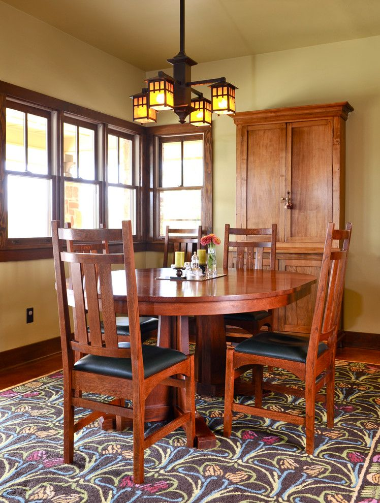 Cordillera Ranch for a Traditional Dining Room with a Stickley Furniture and Arts and Crafts, Cordillera Ranch by Nrinteriors
