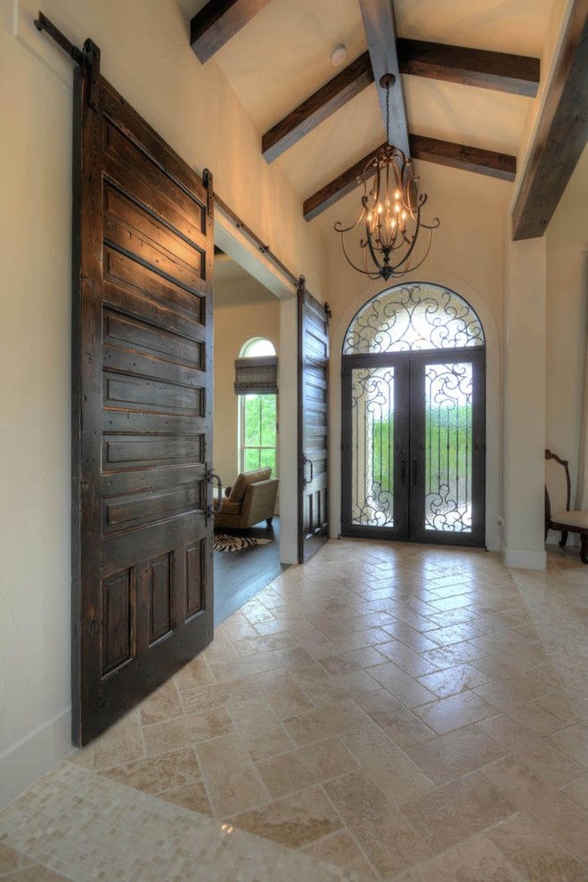 Cordillera Ranch for a Transitional Entry with a Entry Hall and Transitional Elegance in Cordillera Ranch by Garner Homes