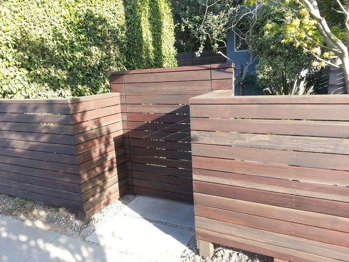 Cordovan Color for a Contemporary Entry with a Door and Modern Fencing   Contemporary, Horizontal Fences and More by Harwell Fencing and Gates Inc