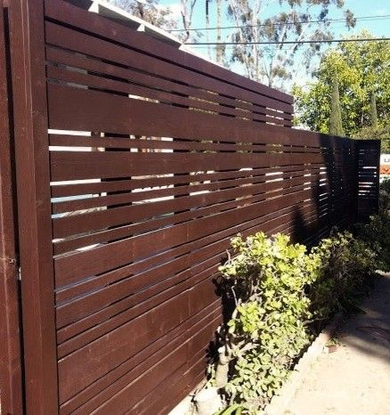 Cordovan Color for a Contemporary Exterior with a Marina Del Rey and Modern Fences by Harwell Fencing and Gates Inc