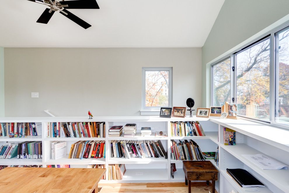 Corepower Yoga Austin for a Modern Home Office with a Window and Modern, Eclectic, Traditional Austin Addition... Thanks Houzz by Moontower Design Build