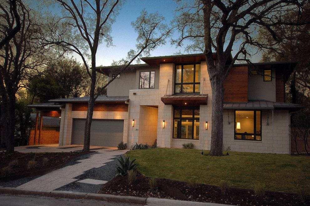 Coronado Paint for a Contemporary Exterior with a Neutral Colors and Bowman Residence Front Exterior by Cornerstone Architects