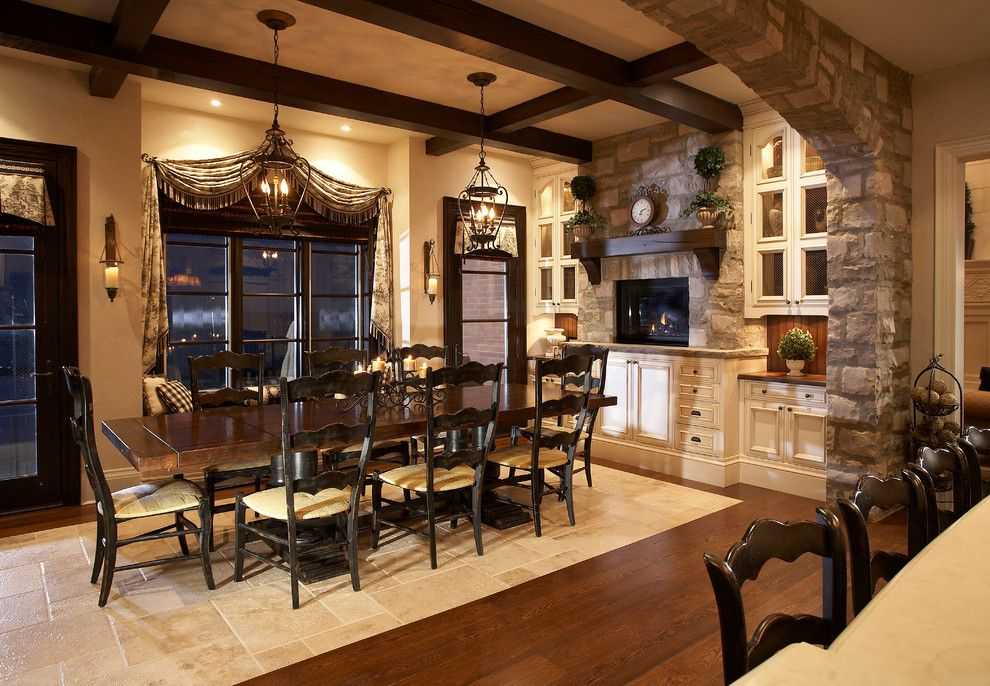Coronado Paint for a Traditional Dining Room with a Glass Wall and Lake Side Luxury by Parkyn Design