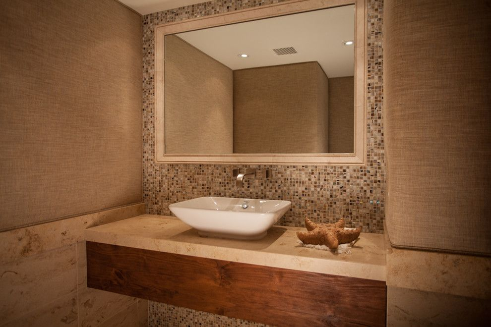 Coronado Shores for a Contemporary Bathroom with a Beige Bathroom and the Shores in Coronado by Select Builders