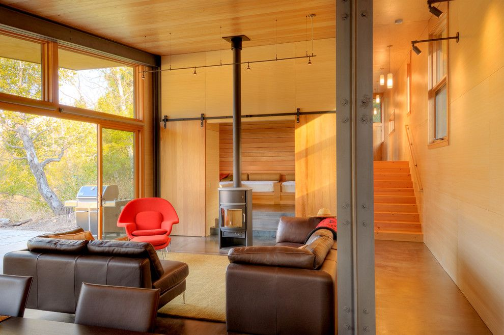 Cort Furniture Rental & Clearance Center for a Contemporary Living Room with a Accent Chair and Miners Refuge Great Room by Johnston Architects