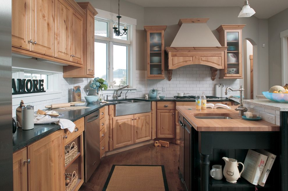 Cort Furniture Rental & Clearance Center for a Farmhouse Kitchen with a Themed and Traditional Farmhouse by Dura Supreme Cabinetry