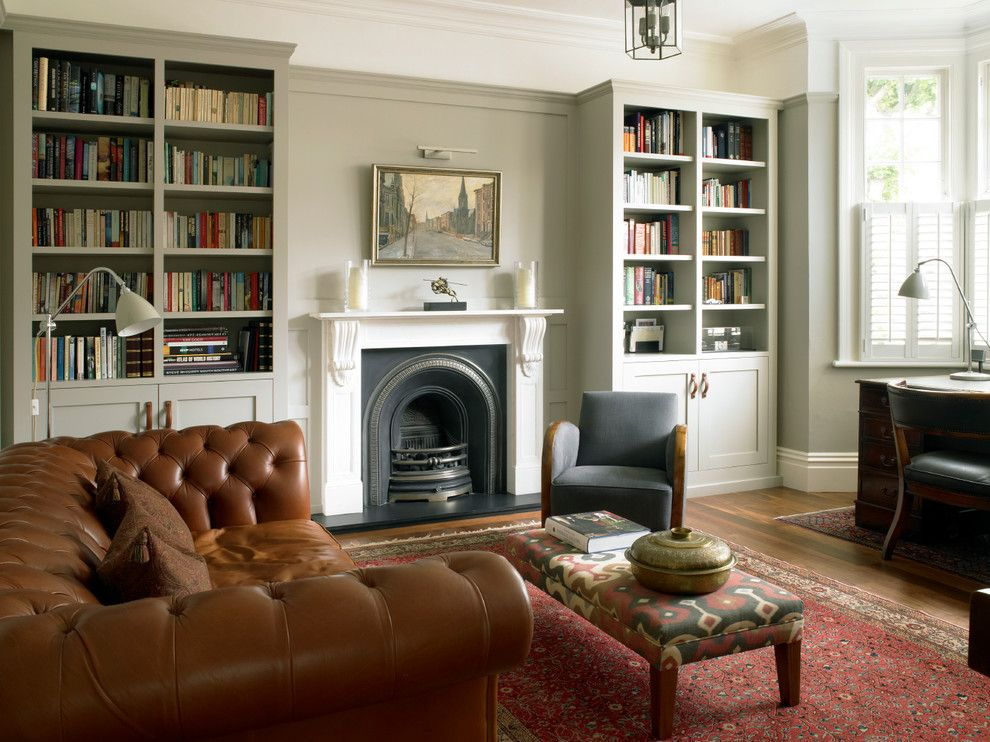 Cort Furniture Rental & Clearance Center for a Traditional Home Office with a Wall Paneling and Study with Bookcases and Wall Paneling by Brayer Design