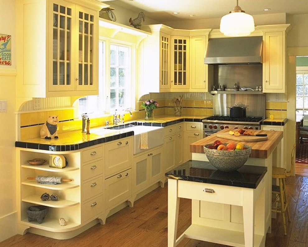 Cort Furniture Rental & Clearance Center for a Traditional Kitchen with a Island and Gourmet Retro Kitchen by Mahoney Architects & Interiors