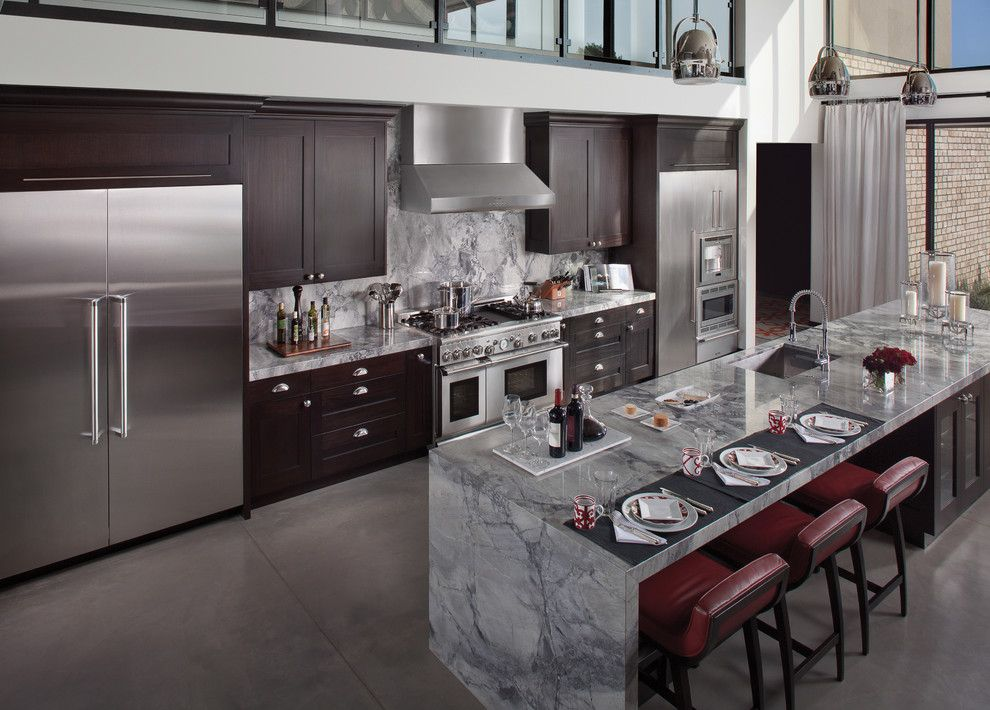 Costco Reno Nv for a Contemporary Kitchen with a High Ceiling and Thermador by Thermador Home Appliances
