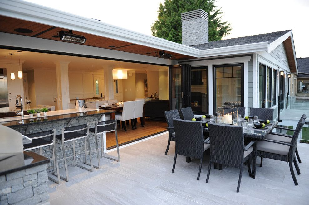 Costco Reno Nv for a Transitional Patio with a White Cabinet and Green with Envy by Sarah Gallop Design Inc.