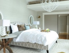 Costco Rug for a Beach Style Bedroom with a Master Suite and West Vancouver Home Renovation by Fox Design Studio