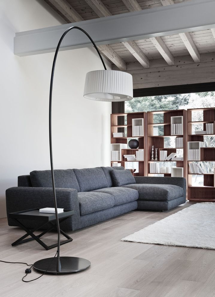 Costco Rug for a Contemporary Living Room with a Sectional Sofa and Modular Sofa 05226 by Usona