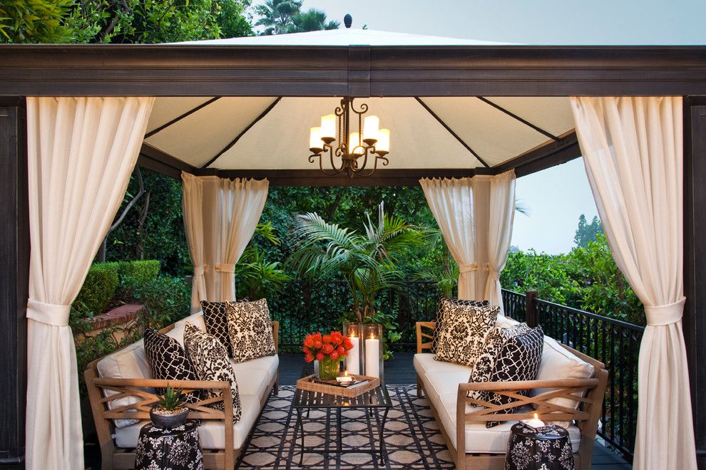 Costco Rug for a Transitional Patio with a Damask and Beverly Hills, Ca by Smith Firestone Associates