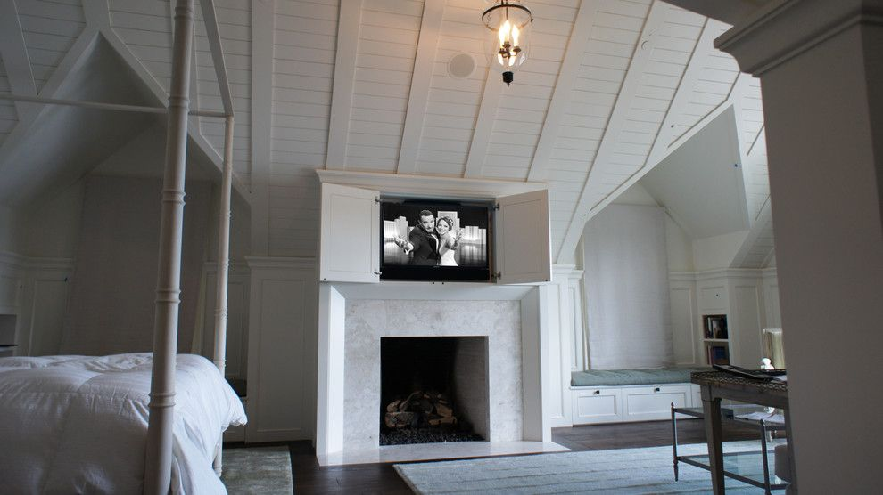 Costco Tv Mount for a Traditional Bedroom with a Electronics and Hidden Electronics   Classic Bedroom by Hi Tek Group