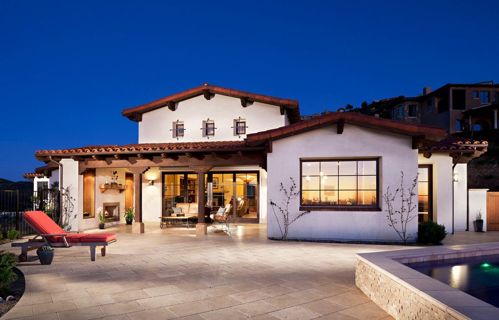 Craiglist Santa Fe for a Traditional Exterior with a Outdoor Fireplace and Hilltop Hacienda by Alphastudio Design Group