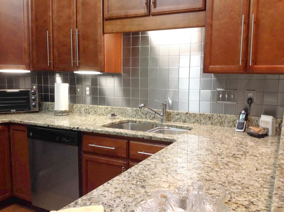 Craigslist Atlanta Appliances for a Modern Kitchen with a Interior Design and Square Backsplash Tiles by Stainless Steel Tile Inc