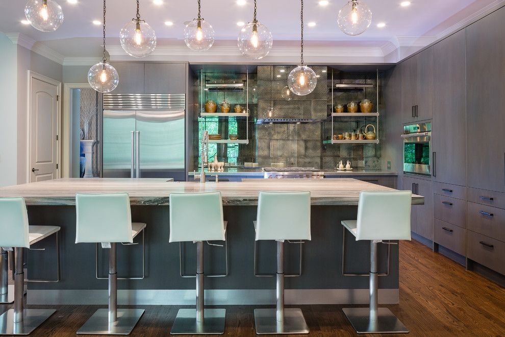 Craigslist Atlanta Appliances for a Transitional Kitchen with a Marble Countertops and Transitional East Cobb Kitchen by John Rogers Renovations, Inc.