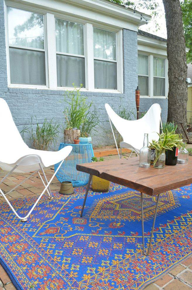 Craigslist Austin Tx Furniture for a Eclectic Patio with a Rug and Dallas, Tx: Sara & Rocky Garza by Sarah Greenman