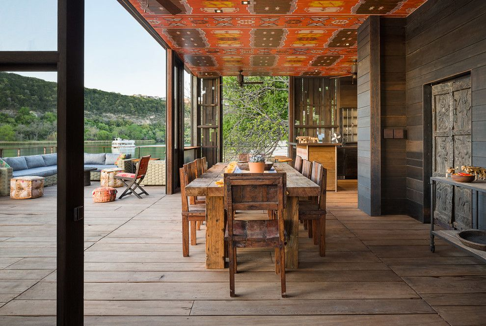 Craigslist Austin Tx Furniture for a Rustic Deck with a Deck Furniture and Bunny Run Boat Dock by Andersson Wise Architects