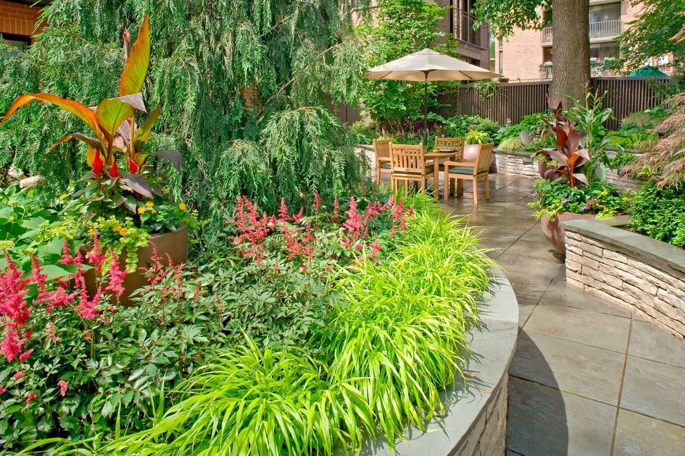 Craigslist Chicago Furniture for a Contemporary Landscape with a Flagstone Walls and Lincoln Park Bluestone by K&d Landscape Management