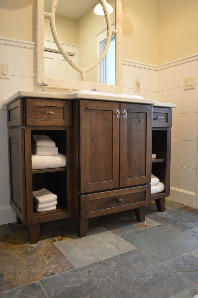 Craigslist Colorado Springs Furniture for a Rustic Bathroom with a Rustic Cherry and Homestead by Castle Kitchens and Interiors