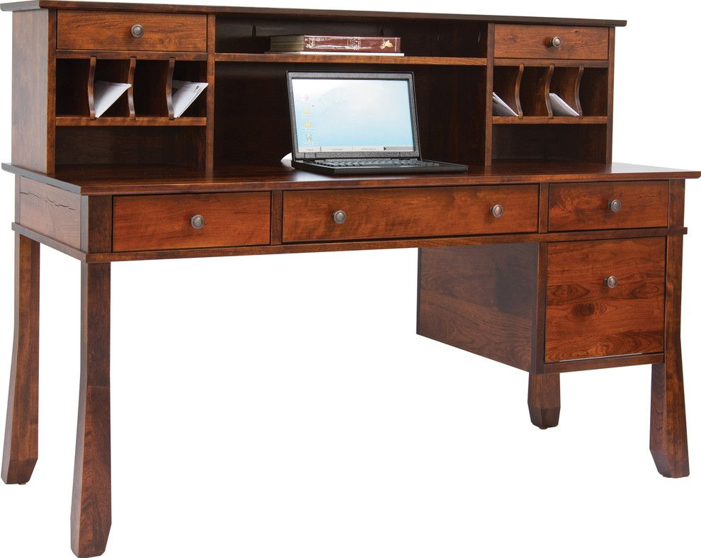Craigslist Columbus Furniture for a Traditional Spaces with a Credenza and Office by Amish Originals Furniture Co