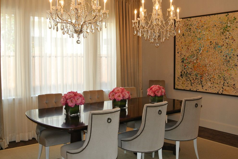 Craigslist Dallas Furniture for a Contemporary Dining Room with a Pink and Rosa's Formal Dining by Kevin Twitty Interiors