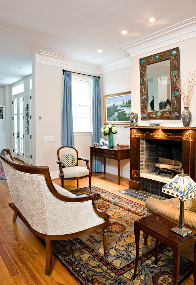 Craigslist Dc Furniture for a Traditional Family Room with a Living Room and a Hip Townhome Living Room by Margo Downing Interiors