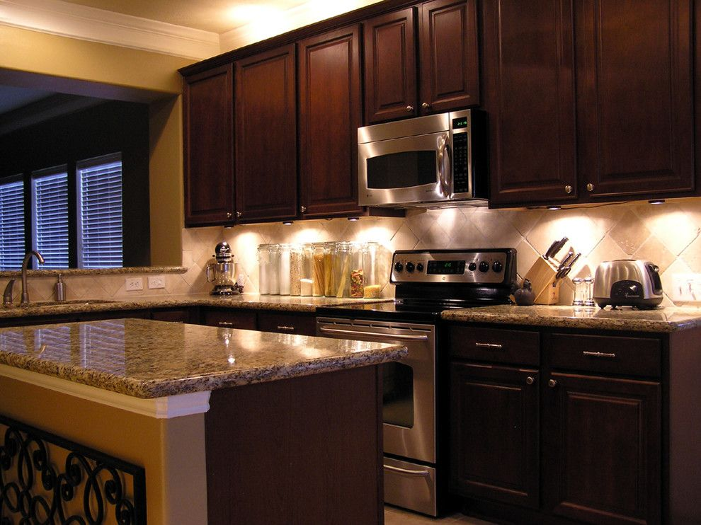 Craigslist Houston Appliances for a Traditional Kitchen with a Dark Cabinets and New Construction Kitchen by Fletcher Design Consultants