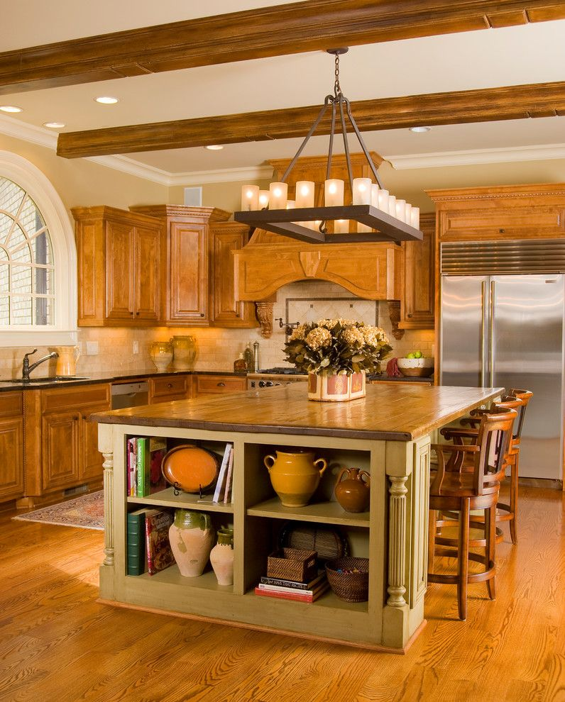 Craigslist Houston Appliances for a Traditional Kitchen with a Wood Top Kitchen Island and Charming Kitchen of Atlanta by Design House Inc in Houston by Design House, Inc