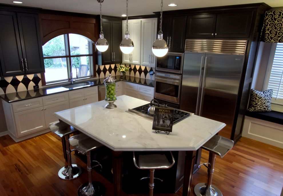 Craigslist Houston Appliances for a Transitional Kitchen with a Bianco Carrara and