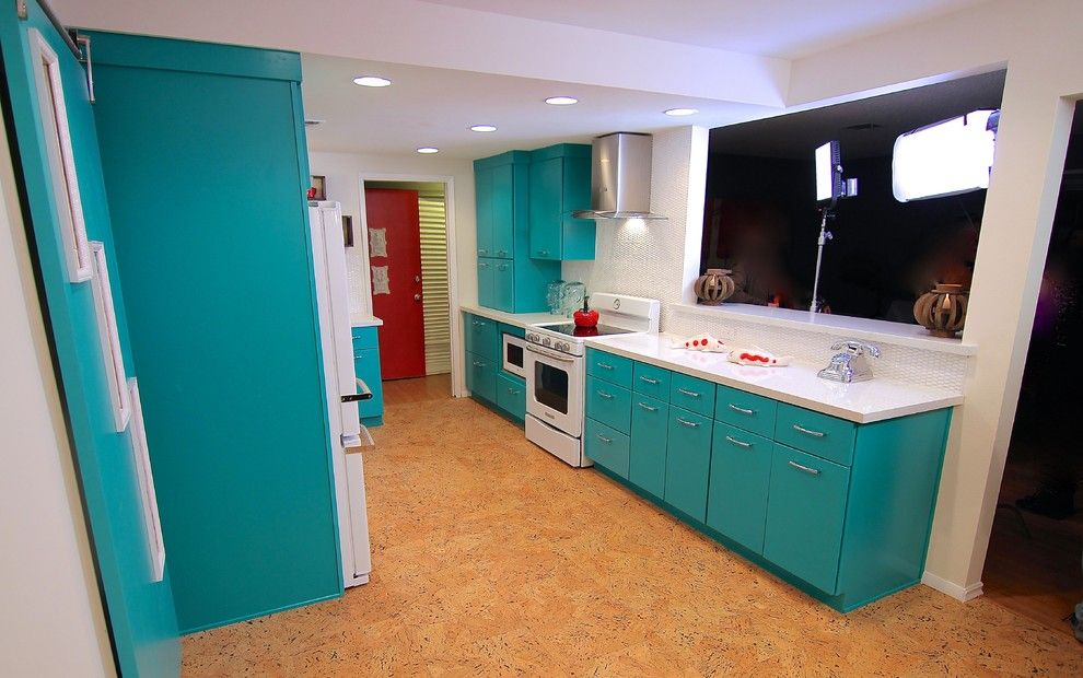 Craigslist Las Vegas Appliances for a Eclectic Kitchen with a Sliding Doors and Kitchen Crashers 3 Day Remodel by Jkl Development Inc.