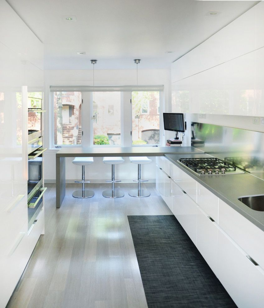 Craigslist Los Angeles Furniture for a Contemporary Kitchen with a Gray Kitchen Table and Contemporary Rowhouse Renovation in Georgetown by Hunt Laudi Studio
