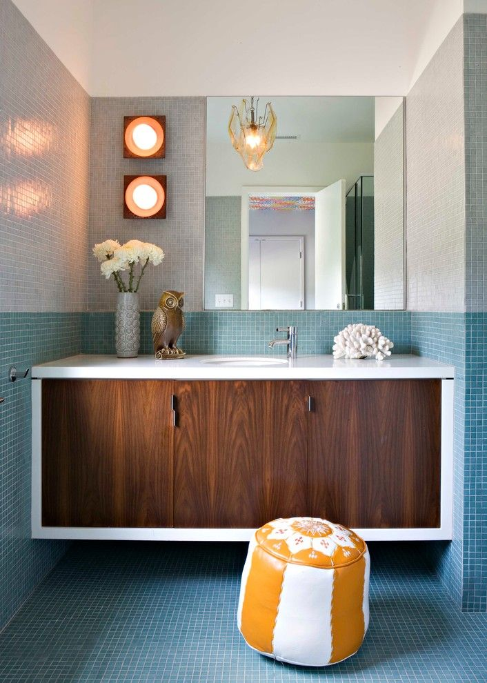 Craigslist Los Angeles Furniture for a Midcentury Bathroom with a Overscaled and Brentwood Residence by Jamie Bush & Co.