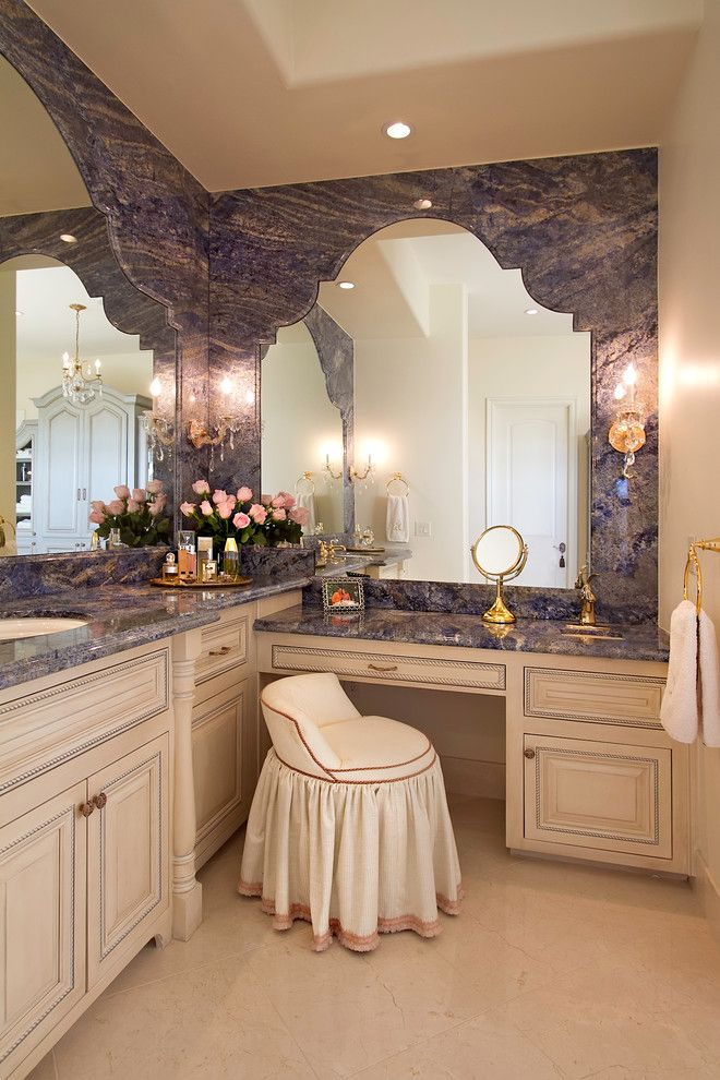 Craigslist Los Angeles Furniture for a Traditional Bathroom with a Blue Wall and 2011 Asid Excellence Award Winning Scottsdale Elegance by Ernesto Garcia Interior Design, Llc