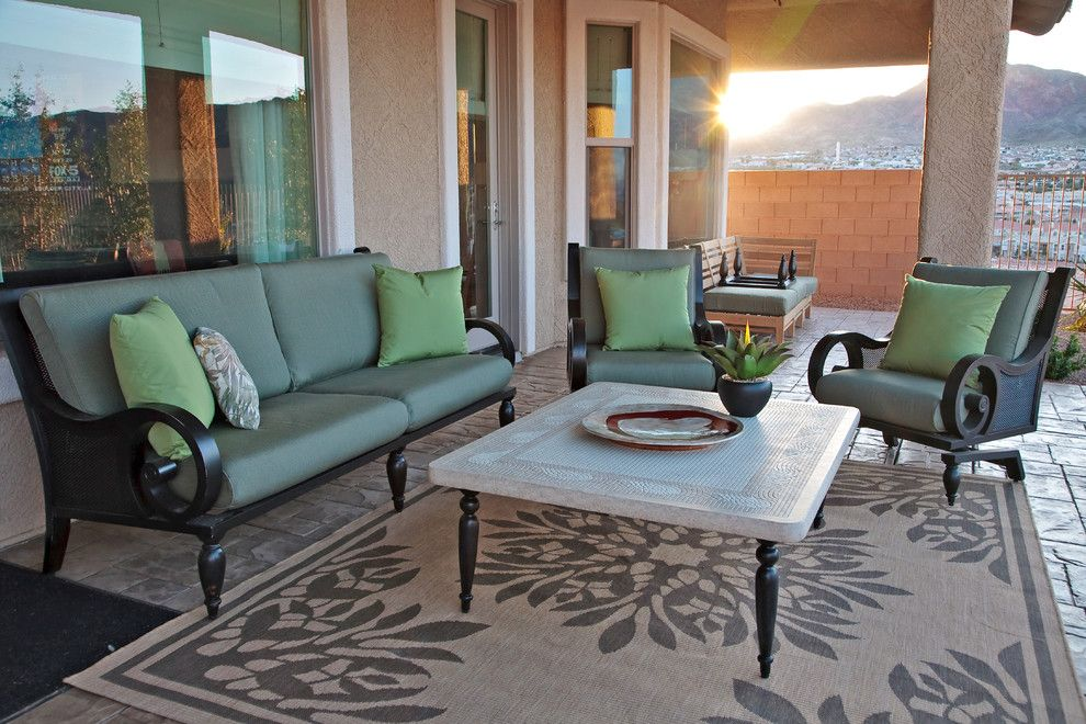 Craigslist Nashville Furniture for a Contemporary Patio with a Throw Pillows and Las Vegas Home by Gates Interior Design