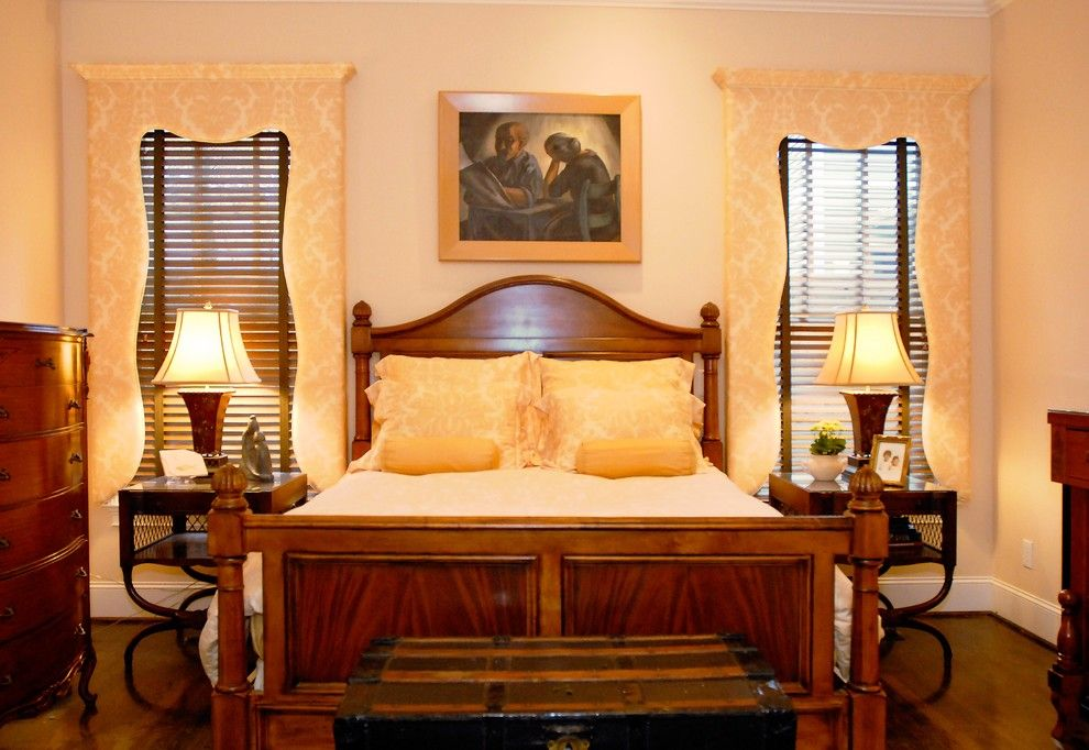 Craigslist Nashville Furniture for a Traditional Bedroom with a Lambrequins and Two Households Merged by Leland Interiors, Llc