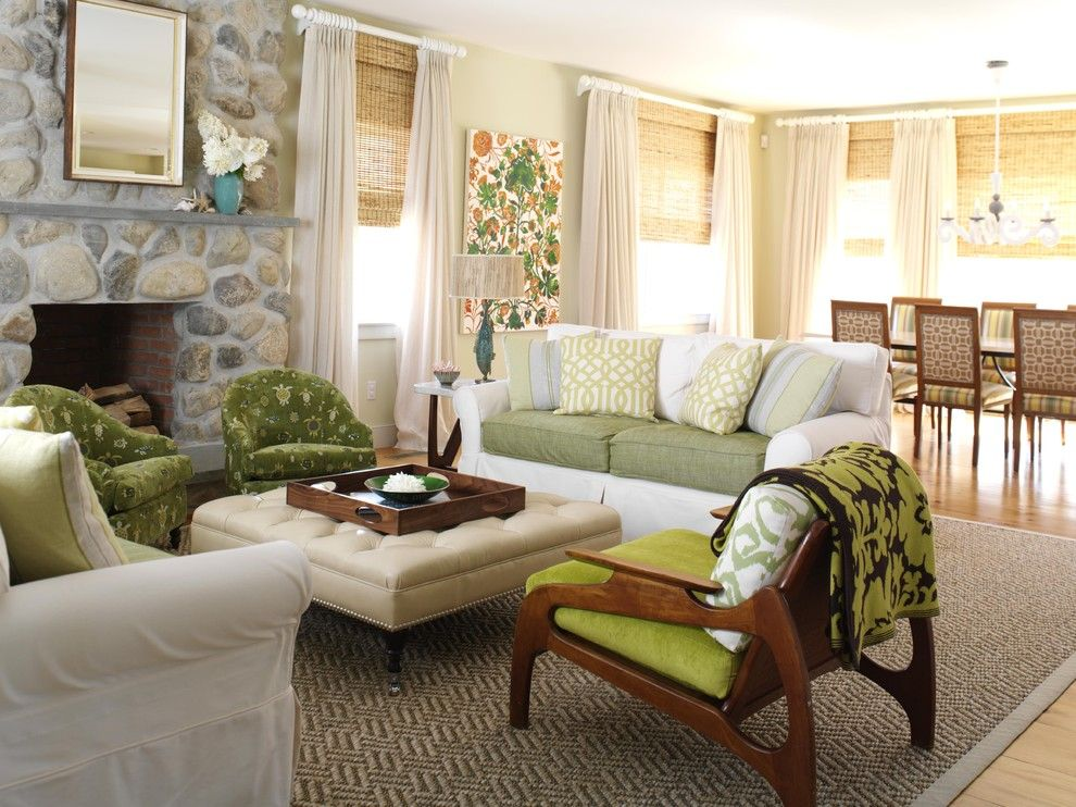 Craigslist New Orleans Furniture for a Beach Style Living Room with a Upholstered Coffee Table and Living Room by Tara Seawright Interior Design