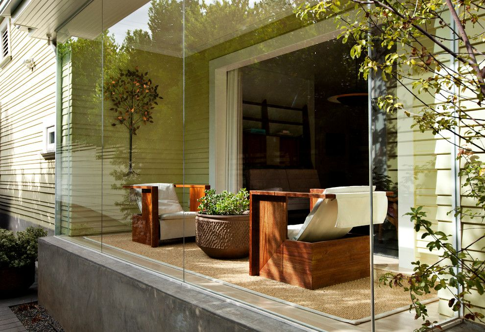 Craigslist New Orleans Furniture for a Modern Sunroom with a Sisal Rug and Exteriors by June Street Architecture