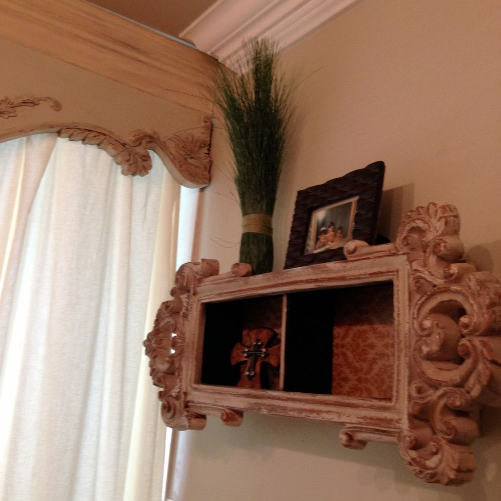Craigslist New Orleans Furniture for a Shabby Chic Style Bathroom with a Bathroom Vanity and Powder Rooms by Khb Interiors