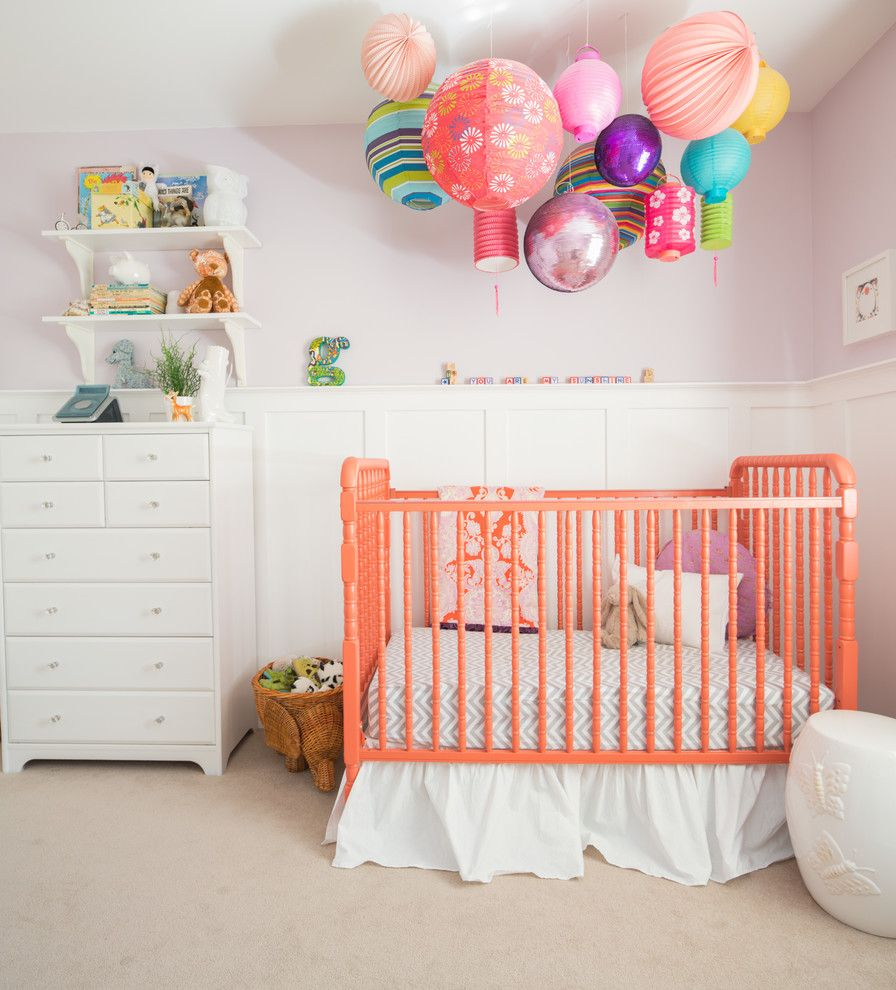 Craigslist New Orleans Furniture for a Transitional Nursery with a Colorful and Gisele's Nursery by Megan Leith Menard Interior Design