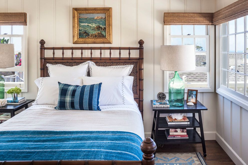 Craigslist Orange County Furniture for a Beach Style Bedroom with a Gilt Framed Painting and Lombardy Lane, Laguna Beach by Clark Collins   Collins Design & Development