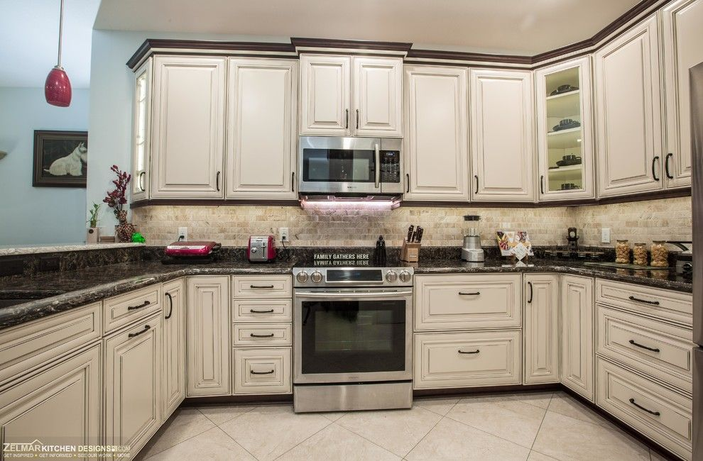 Craigslist Orlando Appliances for a Traditional Kitchen with a Cambria Countertops Laneshaw Berwyn and Aleks (Waypoint) Zelmar Home Remodel by Zelmar Kitchen Designs & More, Llc