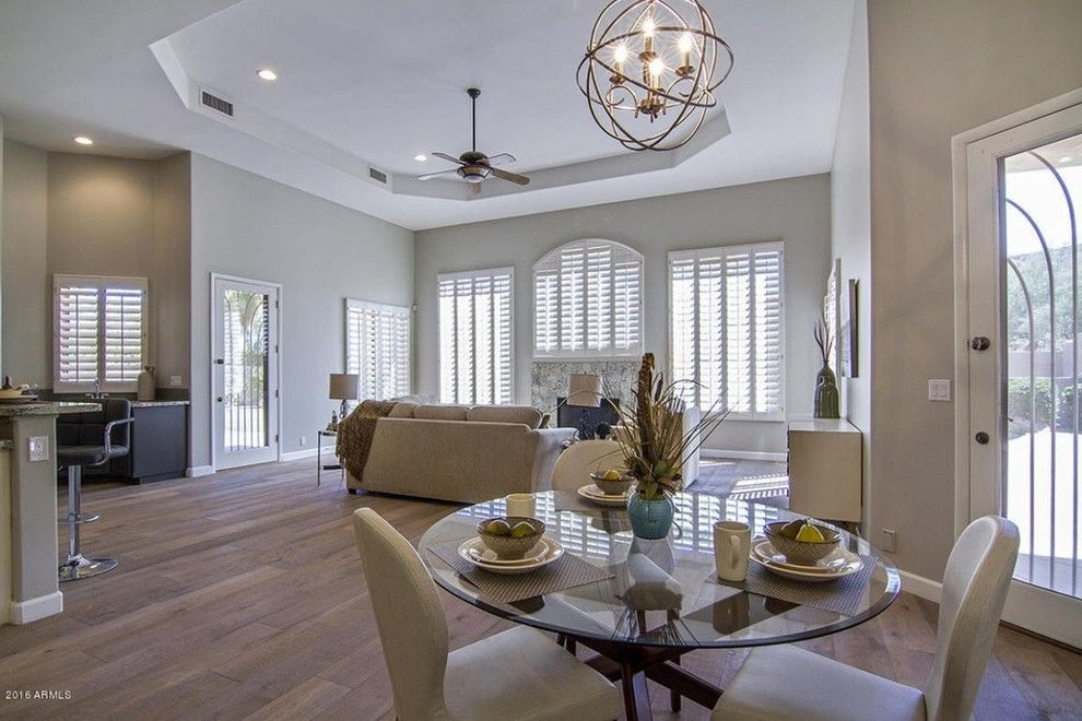Craigslist Phoenix Furniture for a Transitional Family Room with a Scottsdale and Transitional Home Phoenix, Az by Staging Furniture/lavish Interiors