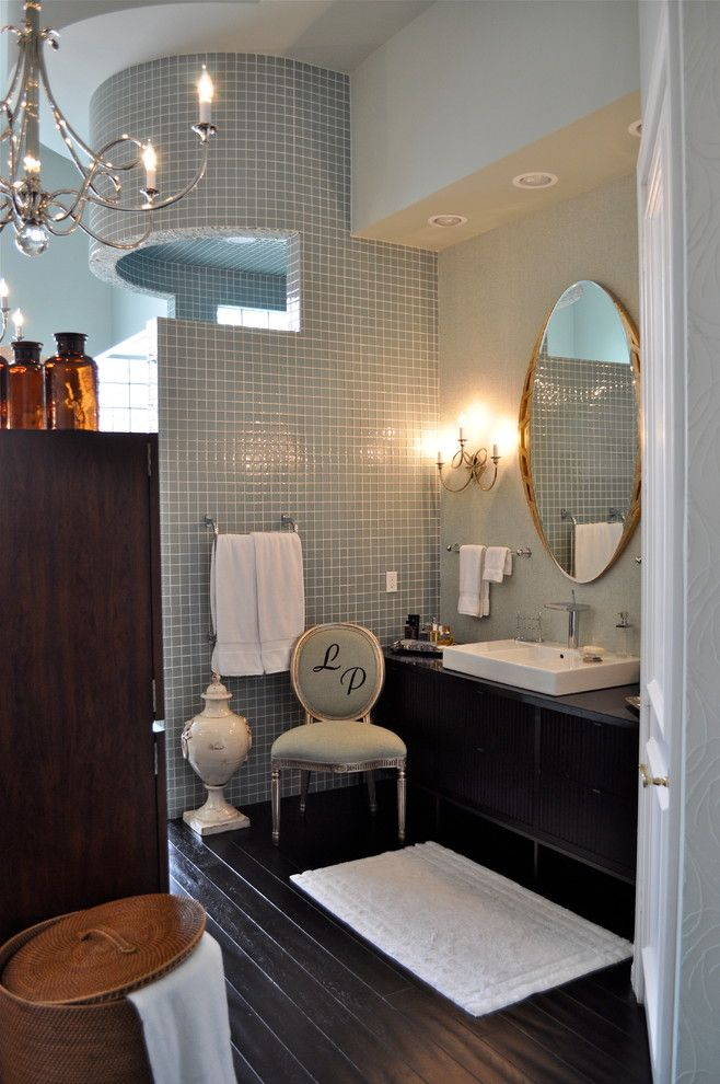 Craigslist South Florida Furniture for a Modern Bathroom with a Chandelier and South Florida Family Estate by Greeson & Fast Design