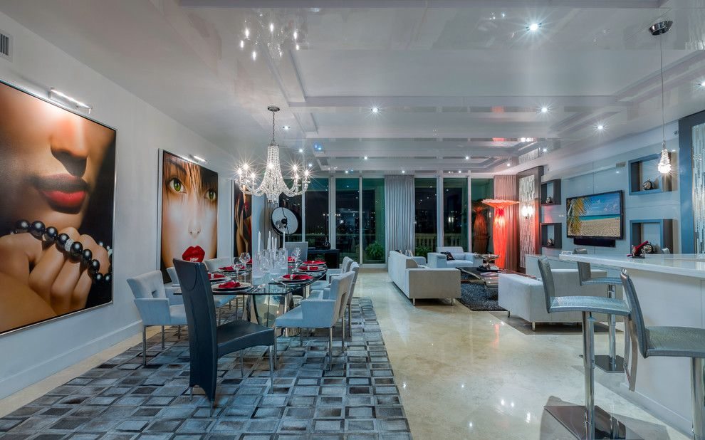 Craigslist South Florida Furniture for a Modern Dining Room with a Dining Table Sets and Modern Boca Raton Condo by Zelman Style Interiors