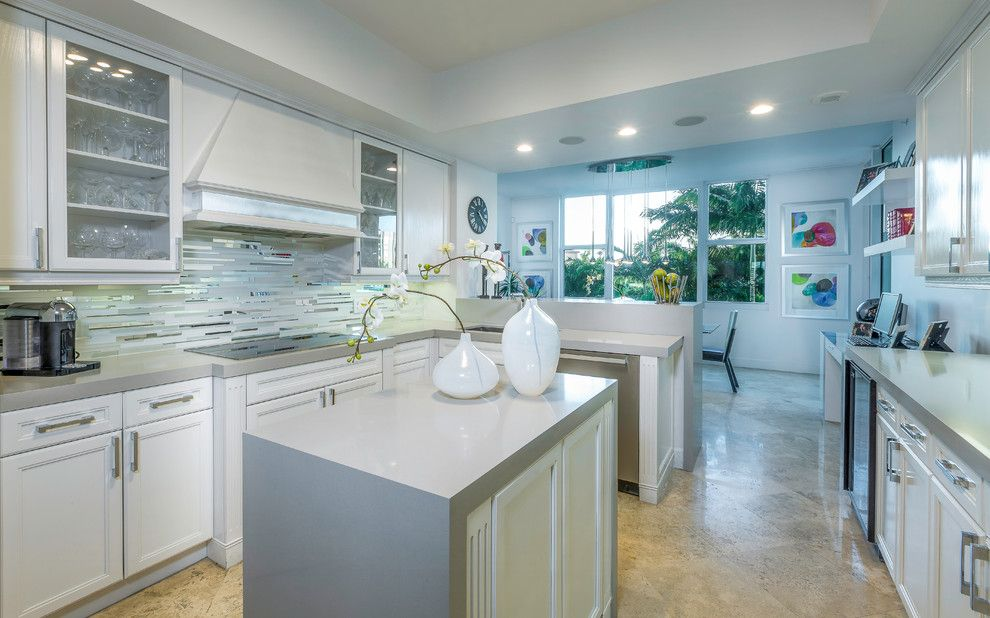 Craigslist South Florida Furniture for a Modern Kitchen with a Backless Bar Stools and Modern Boca Raton Condo by Zelman Style Interiors
