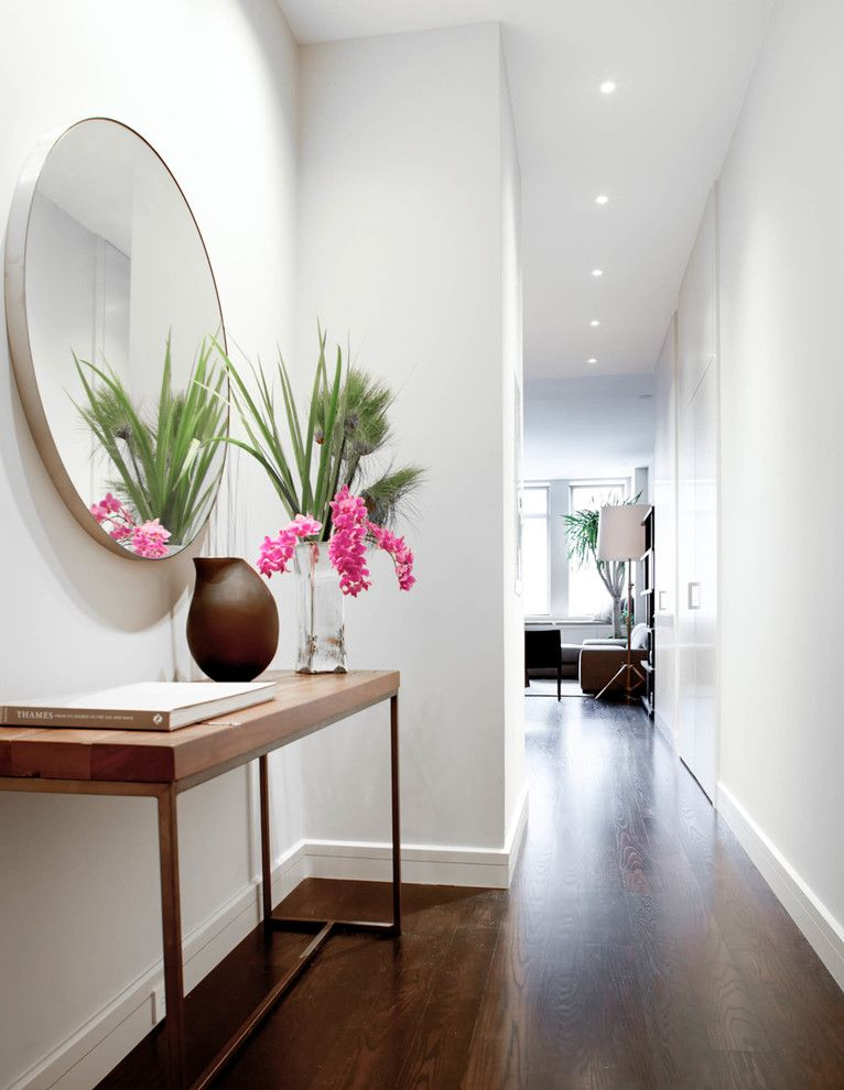 Crate and Barrel Customer Service for a Contemporary Hall with a Flowers and Chelsea Loft by Wettling Architects